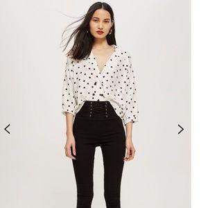 (NWOT)TOPSHOP Jamie Corset High Waist Skinny Jeans